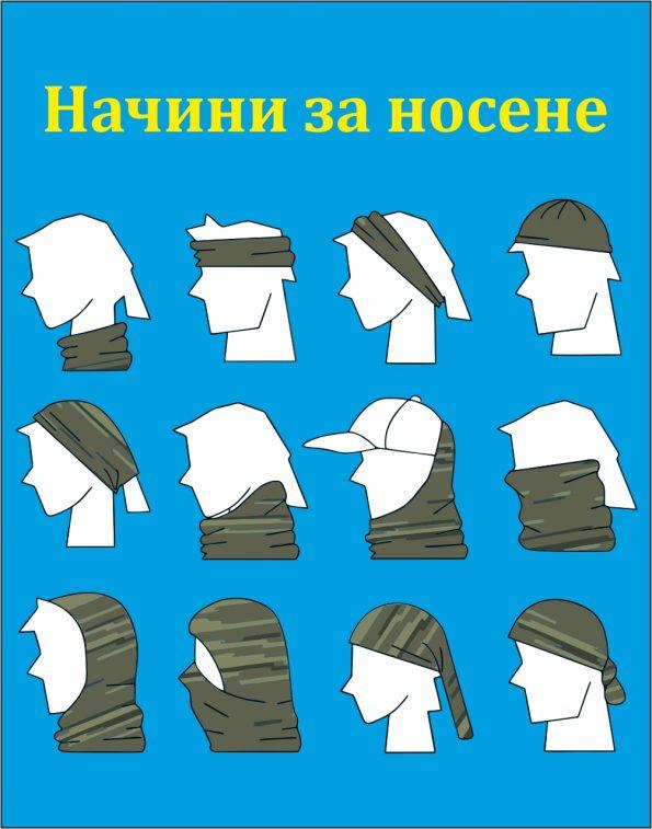 Кърпа за глава синя 2
