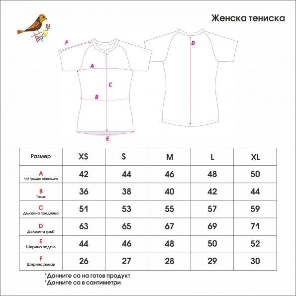 Tablica s razmeri jenska teniska Vrabche